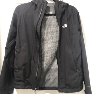 XS The North Face Hooded Rain Coat in black